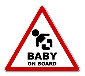 Babyaufkleber gehören für vielel Eltern zum Pflichtprogramm. Man zeigt nach außen, was das Herz bewegt. (#1)
