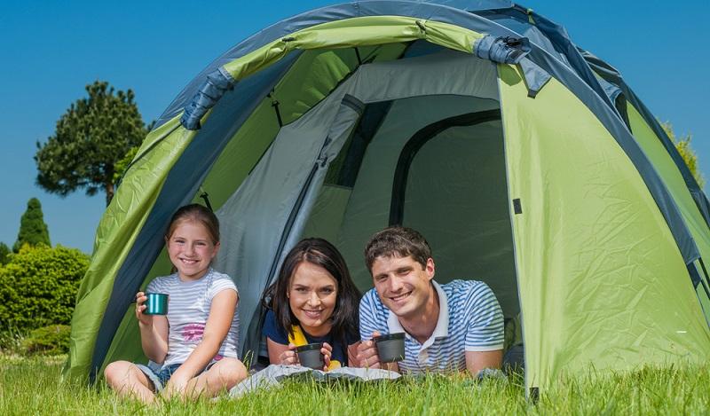 Sanfter Tourismus, nachhaltiger Urlaub. Auch campen auf dem Campingplatz gehört dazu. (#02)