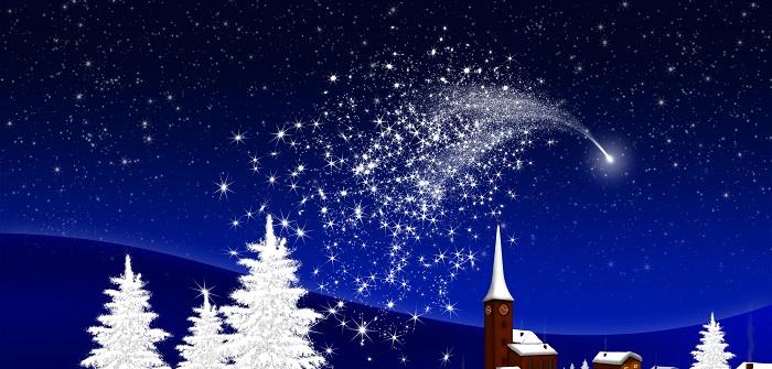 Weihnachtsgeschichten , wenn der Schnee glitzert, die Sterne leuchten, dann ist es die stille Zeit