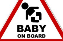 Autoaufkleber: und Baby und Eltern sind glücklich